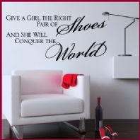 Give a Girl the Right Pair of Shoes 01 Wall sticker / decal